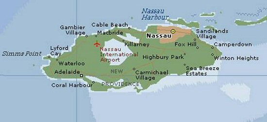 The Bahamas Frequently Asked Questions Grand Bahama Island Ginn – Nassau Bahamas Tourist Map